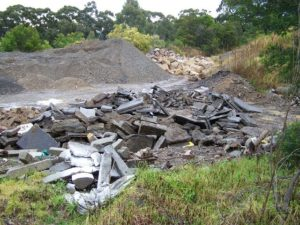 recycling of concrete from skip bins